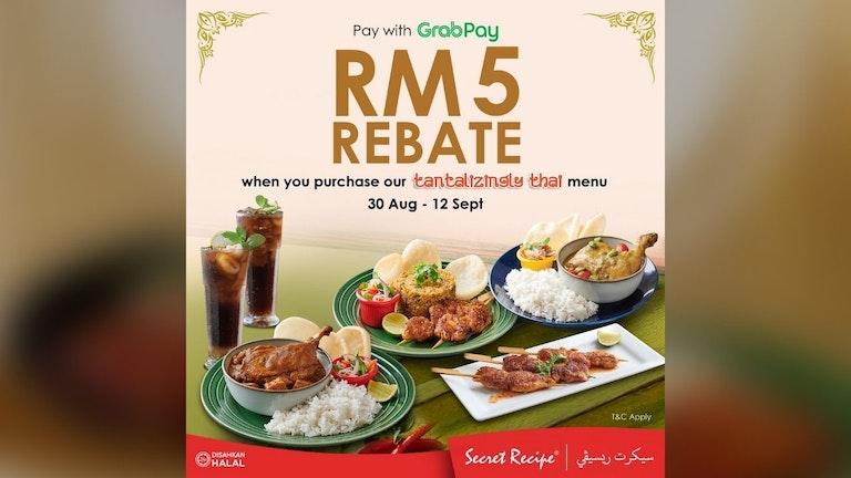 GrabPay x Secret Recipe Rebate for Selected Menu