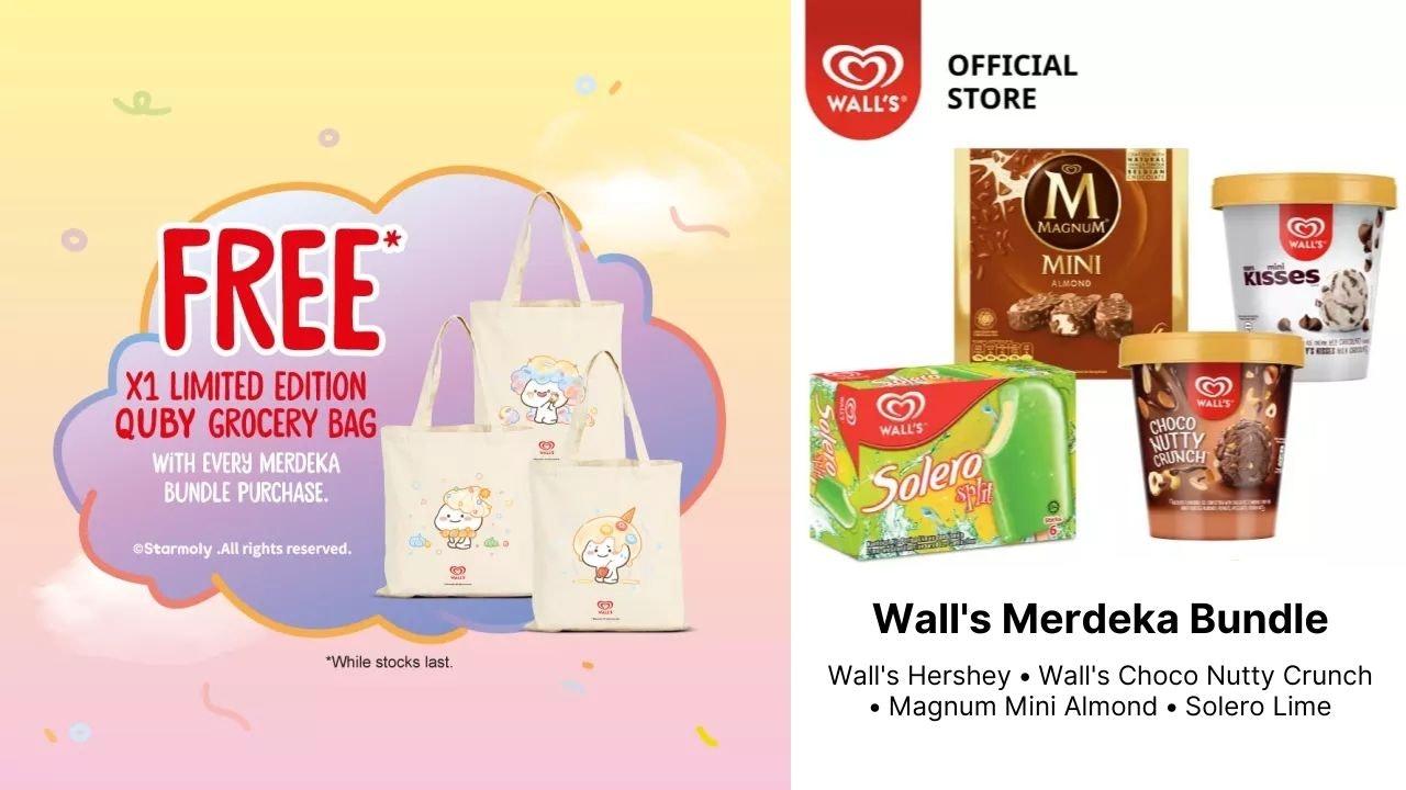 Free Quby Bag with Every Wall's Merdeka Bundle