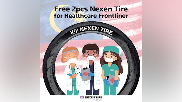 Free 2pc Front Tires for Malaysian Healthcare Frontliners