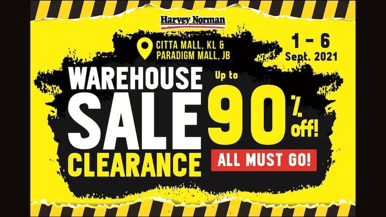 Harvey Norman Warehouse Clearance Sale