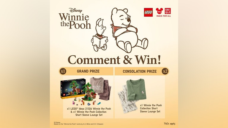 Winnie the Pooh's Comment & Win Giveaway at UNIQLO