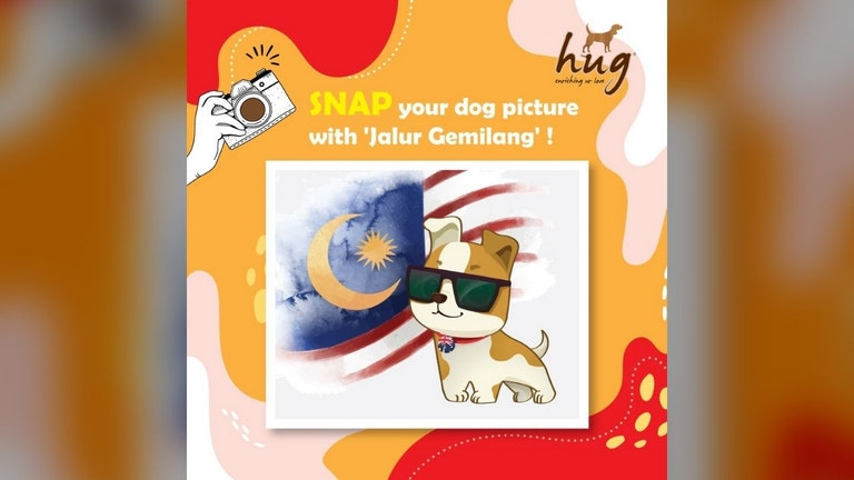 HUG Malaysia Snap Your Dog Photo with Jalur Gemilang Contest