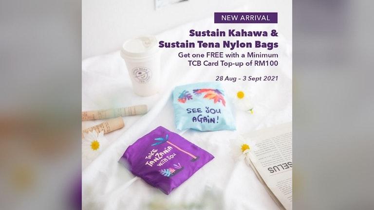 Free Sustain Kahawa or Sustain Tena Nylon Bag from The Coffee Bean & Tea Leaf