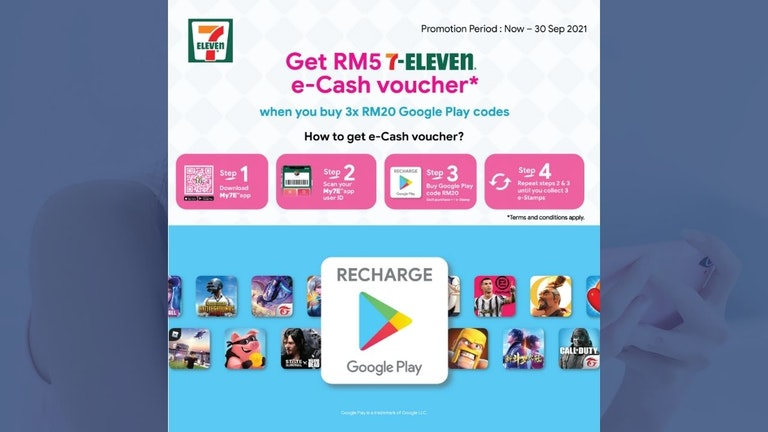 Recharge Google Play Codes and Get 7-Eleven e-Cash Voucher