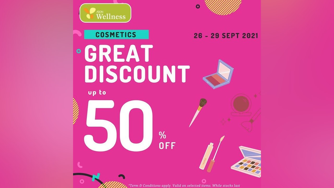 Cosmetics Up to 50% OFF at AEON Wellness