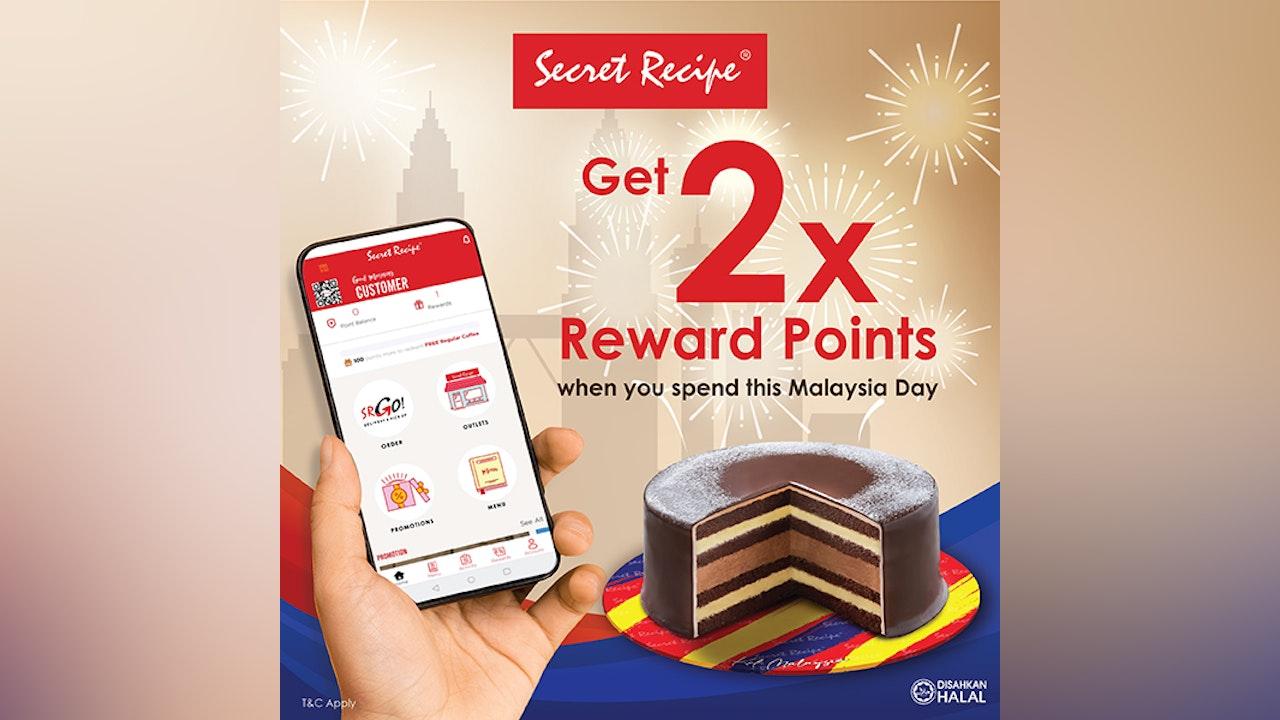 Get 2x Reward Points at Secret Recipe Malaysia