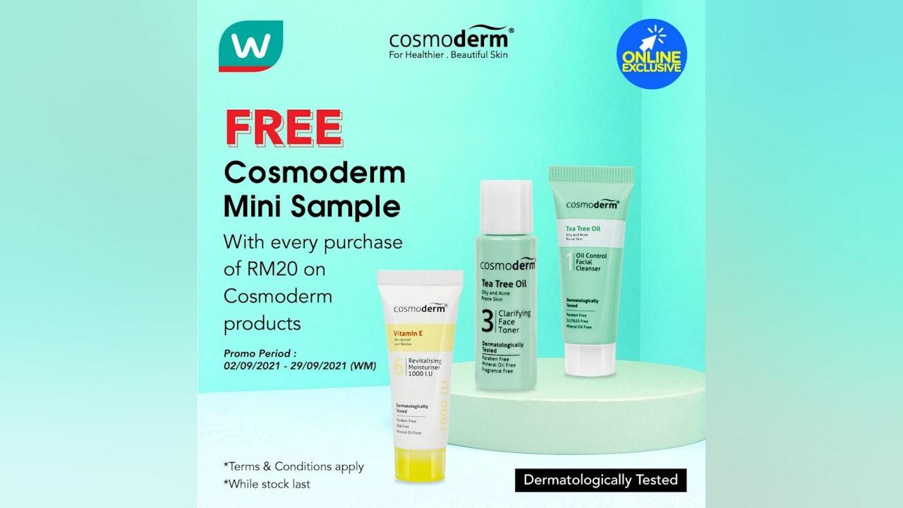 FREE Cosmoderm Mini Sample