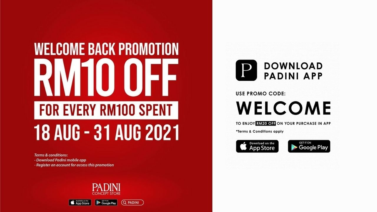 Padini's Welcome Back Promotion