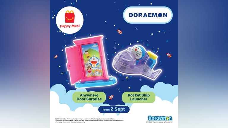 McDonald's Happy Meal Malaysia's Doraemon Toy Collection