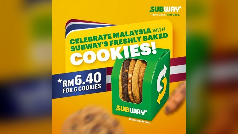 Celebrate Malaysia with Subway's Freshly Baked Cookies