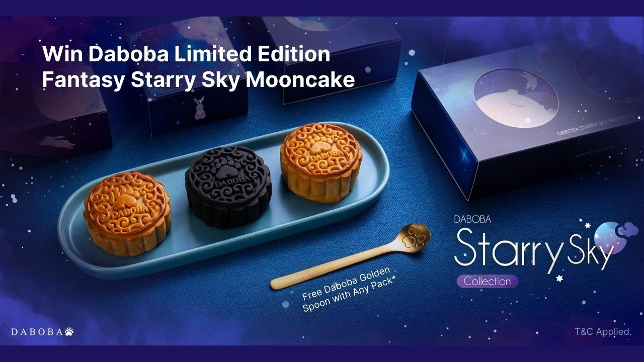 Daboba Fantasy Starry Sky Mooncake Giveaway with Free Golden Spoon