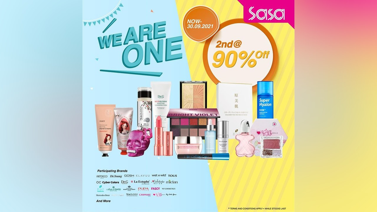 Purchase 2nd Beauty Products at SaSa with 90% OFF