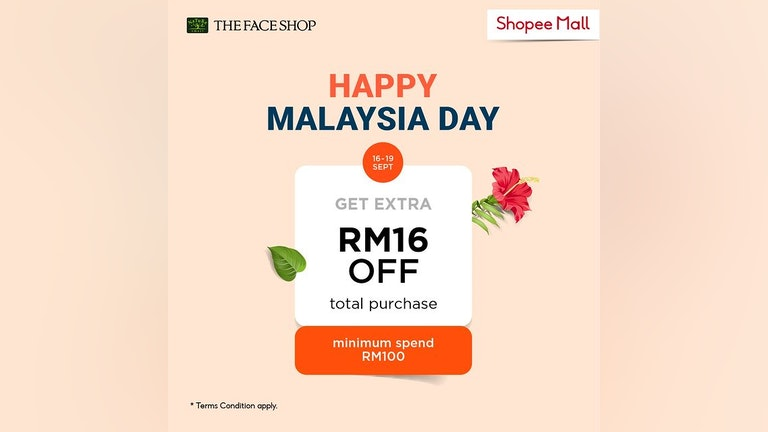 Malaysia Day Deals from THE FACE SHOP x Shopee
