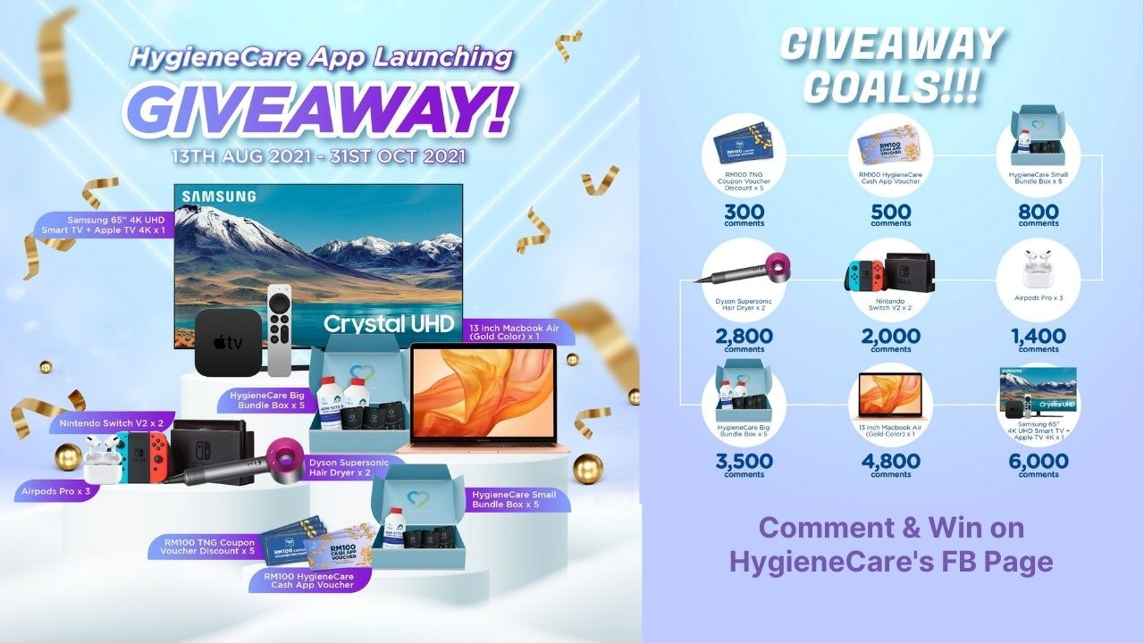 HygieneCare App Launching Giveaway