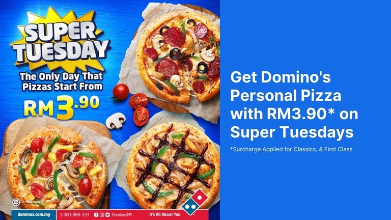 Domino's Pizza RM3.90 Personal Pizza