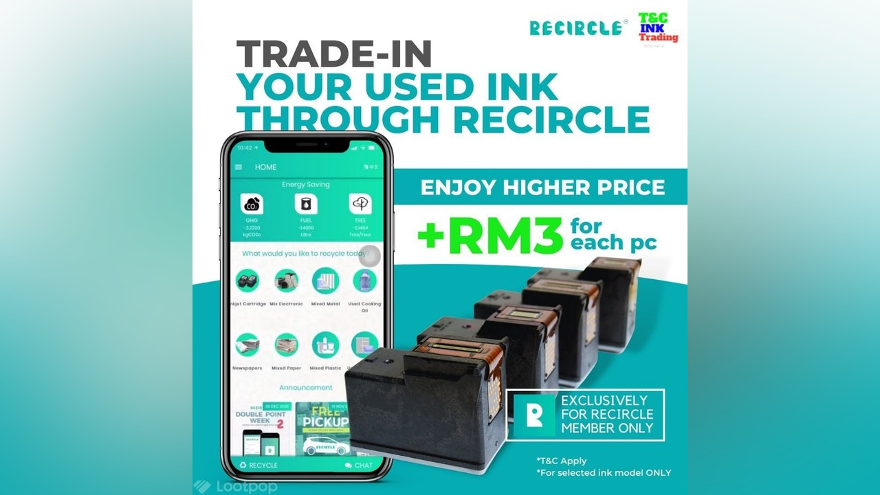 Trade In Used Ink Cartridge Through Recircle App