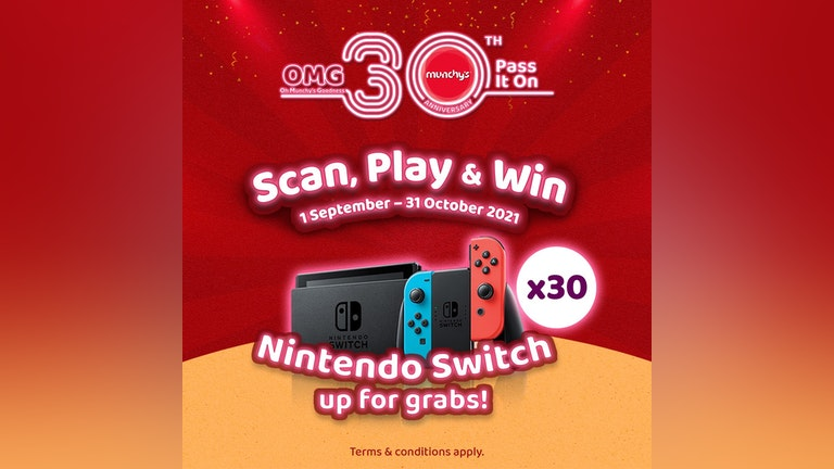 Munchy's Scan, Play & Win Contest