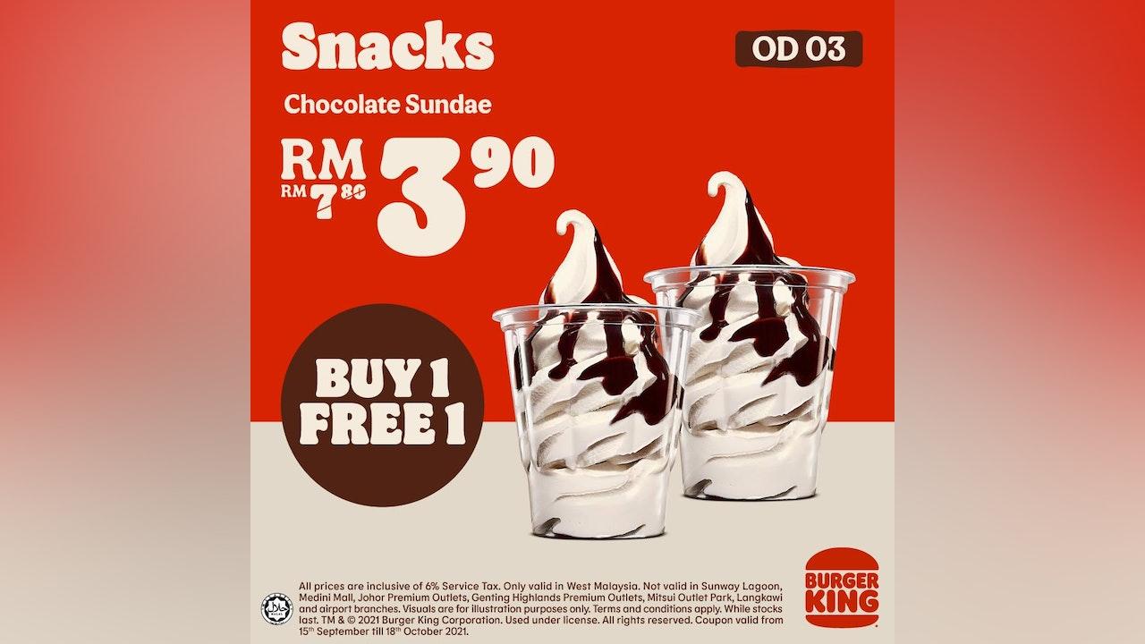 Burger King September Snack Coupons