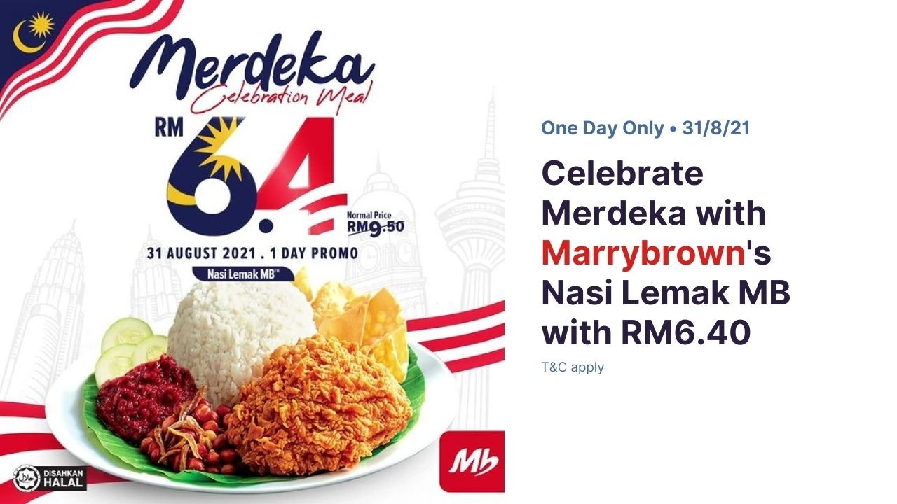 RM6.40 Marrybrown's Nasi Lemak MB on Merdeka Day