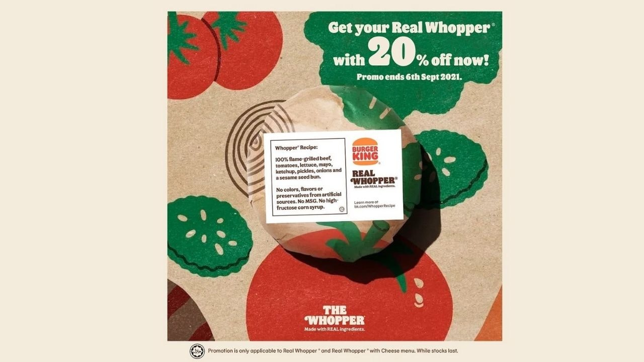 Burger King Real Whopper® Discount 20% OFF