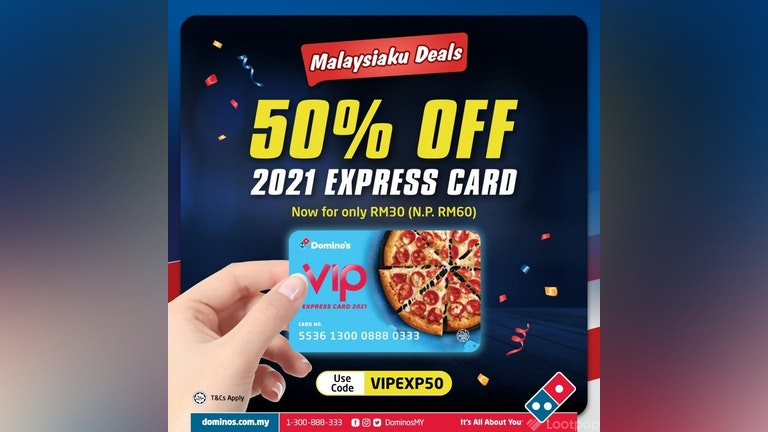 50% Off Domino's VIP Express Card