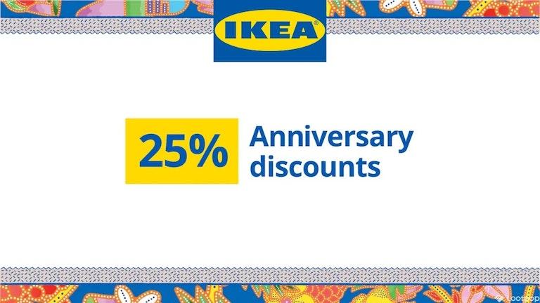 IKEA 25% Anniversary Discounts