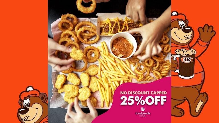 25% OFF A&W at foodpanda
