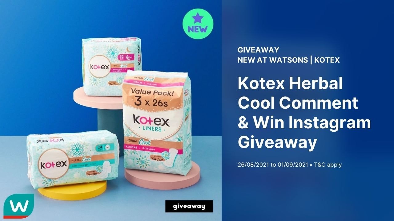 Kotex Herbal Cool Comment & Win Instagram Giveaway