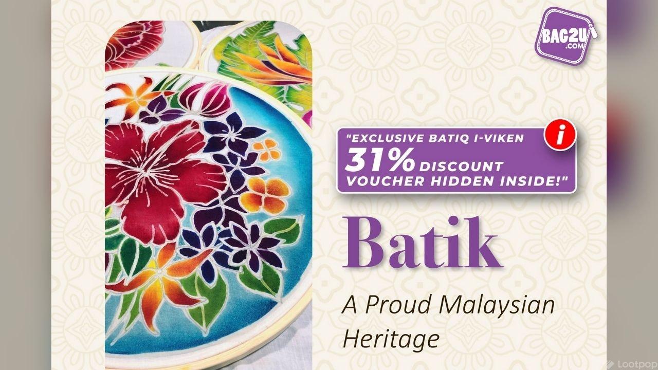Exclusive Bag2u 31% Off Voucher for Batiq i-Viken Backpack