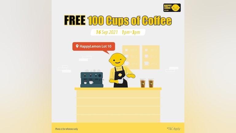 Free 100 Cups of Happy Lemon Coffee