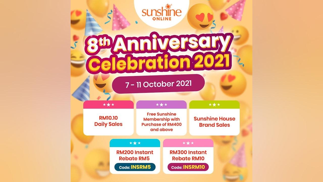 Sunshine Online's 8th Anniversary Celebration 2021
