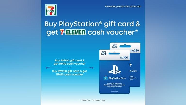 Buy PlayStation Gift Card, Get 7-Eleven Cash Voucher