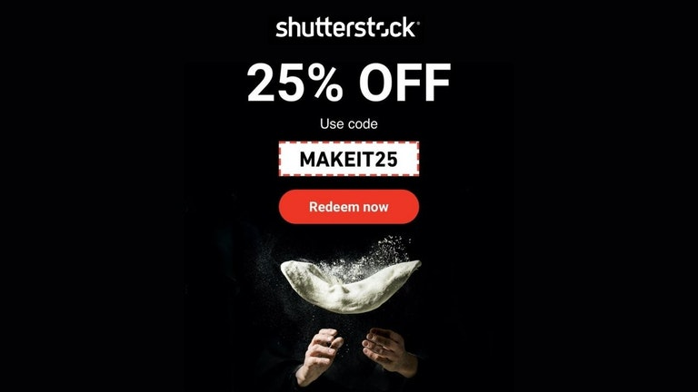 Everything 25% OFF on Shutterstock