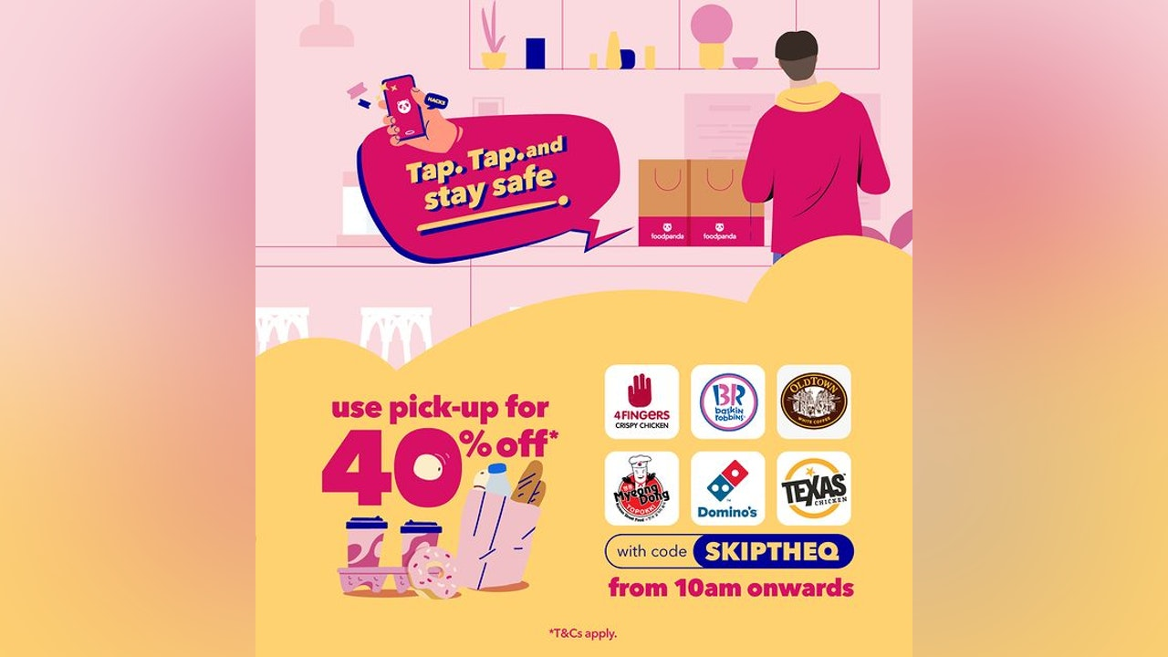 foodpanda Pick-Up with 40% Off