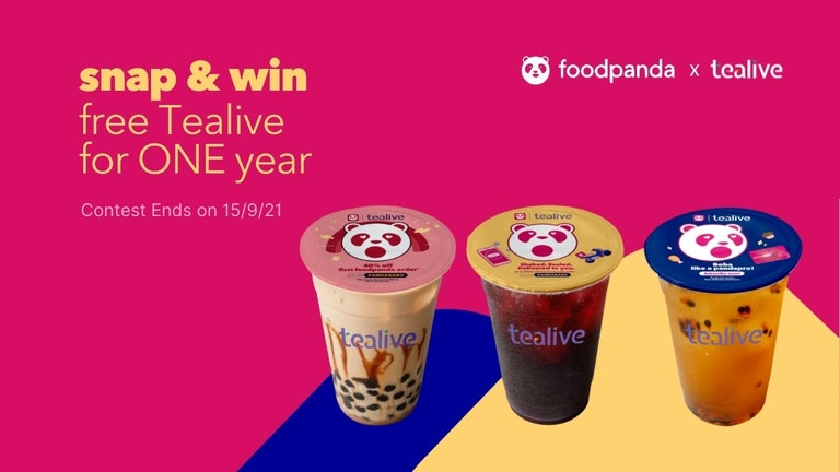 foodpanda x Tealive Snap & Share Contest