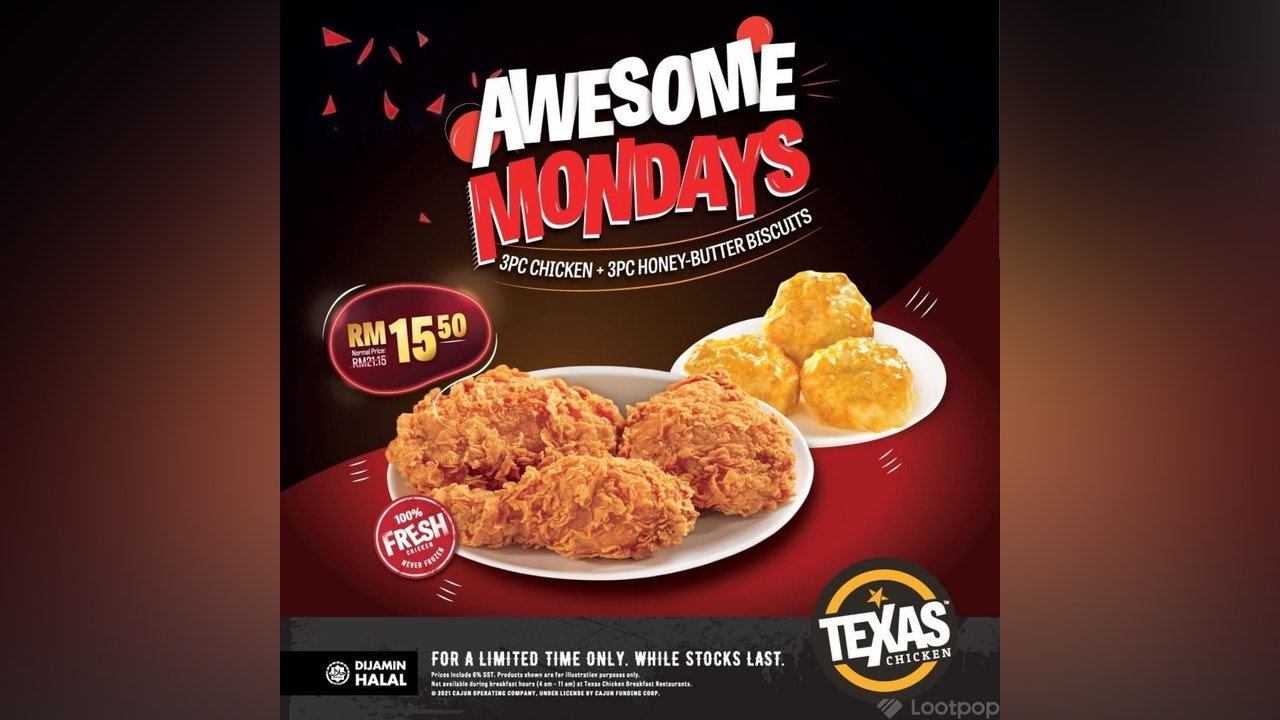 Awesome Mondays at Texas Chicken Malaysia