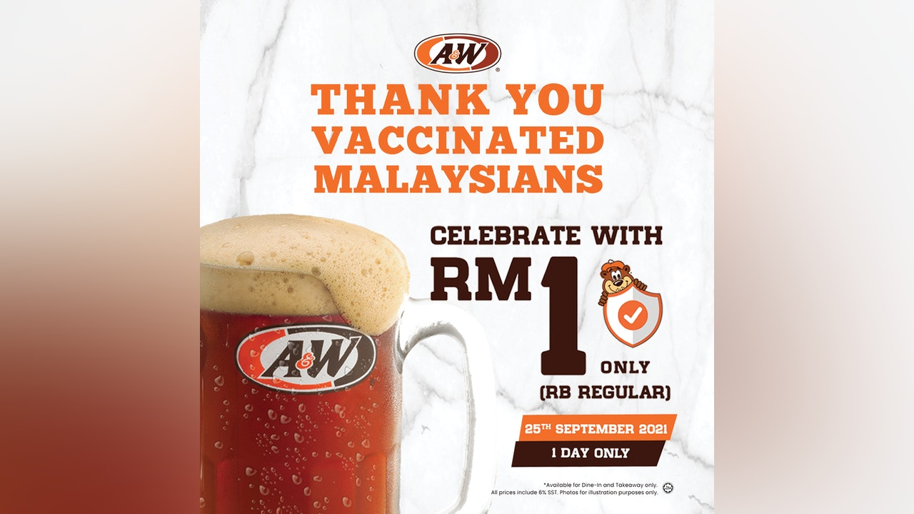Celebrate Vaccination with RM1 A&W Regular Rootbeer