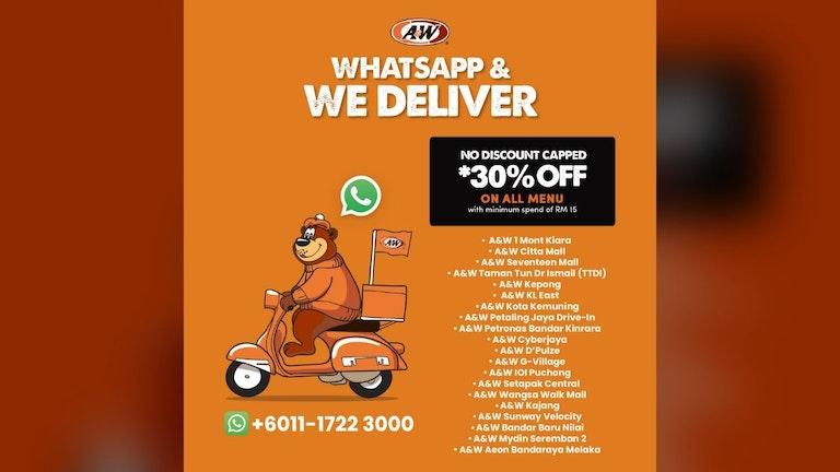 A&W WhatsApp & Deliver