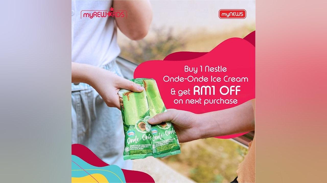 Buy 1 Nestle Onde-Onde Ice Cream, Get RM1 Off on Next Purchase