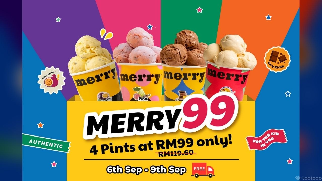 9.9 Deal: Merry99 4 Pints Set
