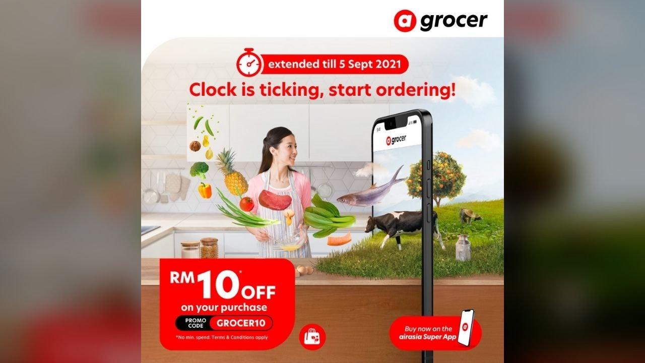 airasia Grocer RM10 / SGD $10 OFF Promo