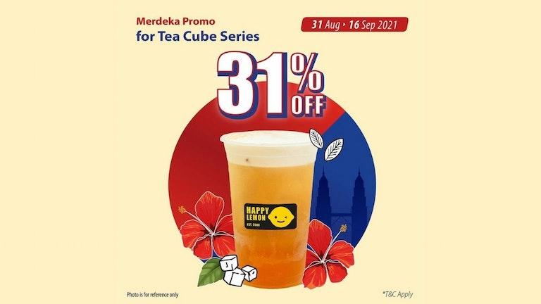 Happy Lemon Merdeka Promo for Signature Tea Cube Series