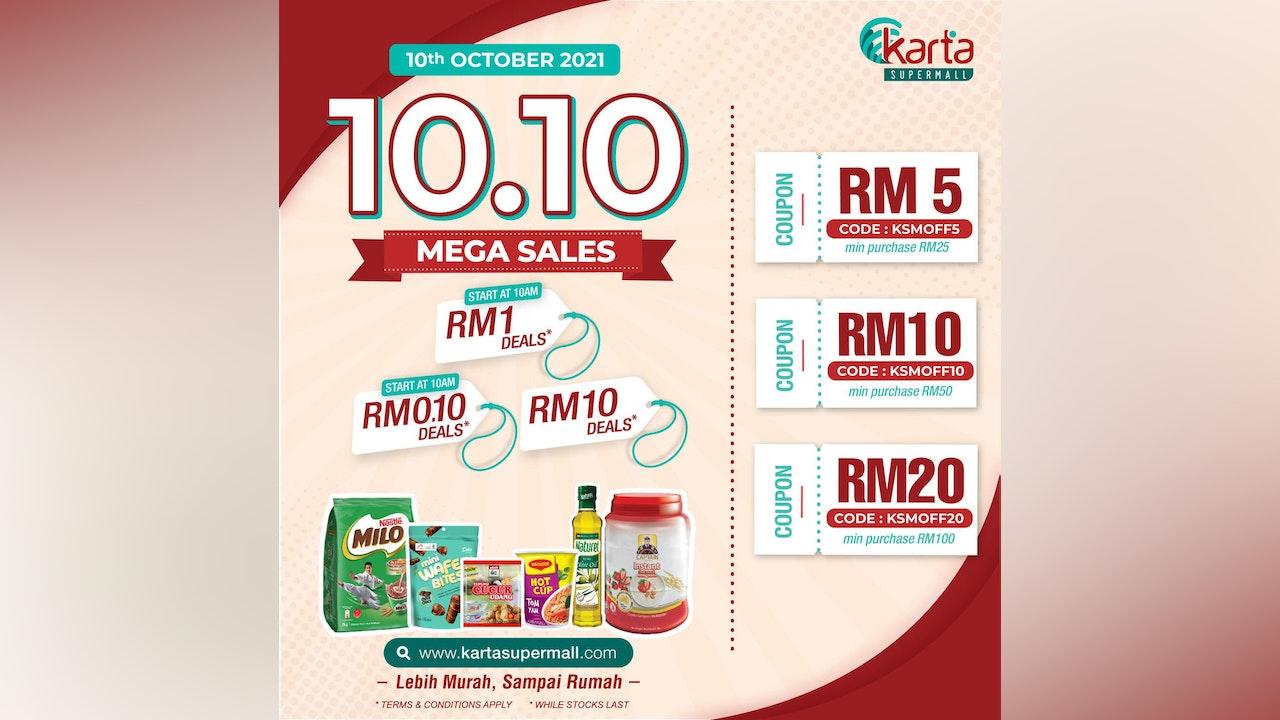 10.10 Karta Supermall Mega Sales