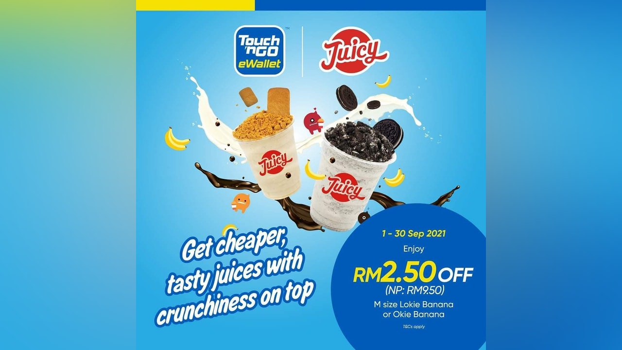 RM2.50 Off Juicy Drinks via Touch 'n Go eWallet