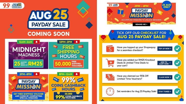 Shopee Aug25 Payday Sale
