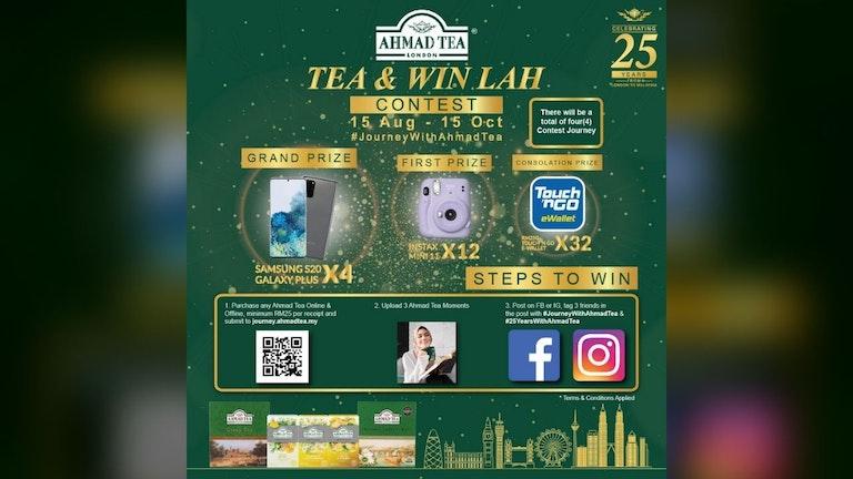 Tea & Win Lah Contest by Ahmad Tea Malaysia