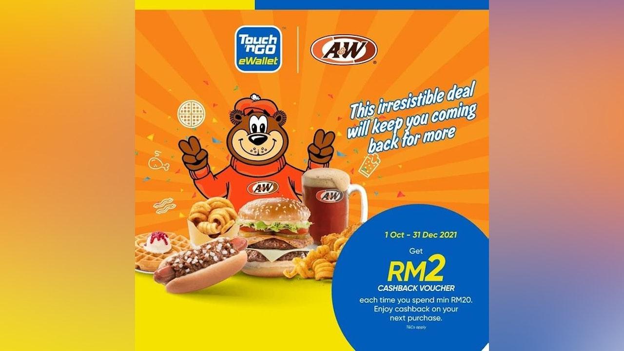 RM2 A&W Cashback via Touch 'n Go eWallet
