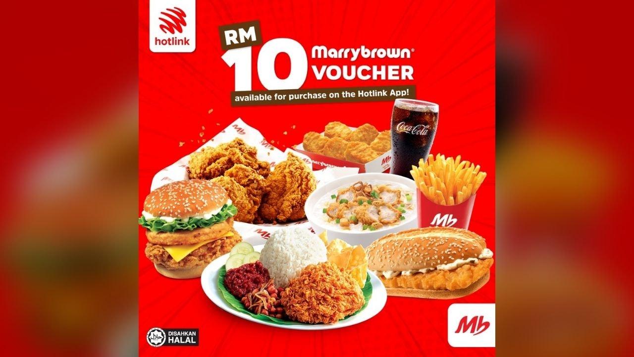 Marrybrown x Hotlink RM10 Voucher