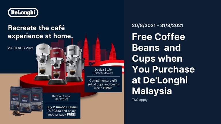 Free Coffee Beans and Gift Set from De'Longhi to Celebrate Merdeka 2021