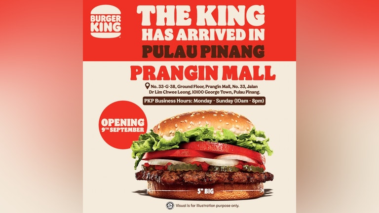 Burger King is Now Opened in Penang Island